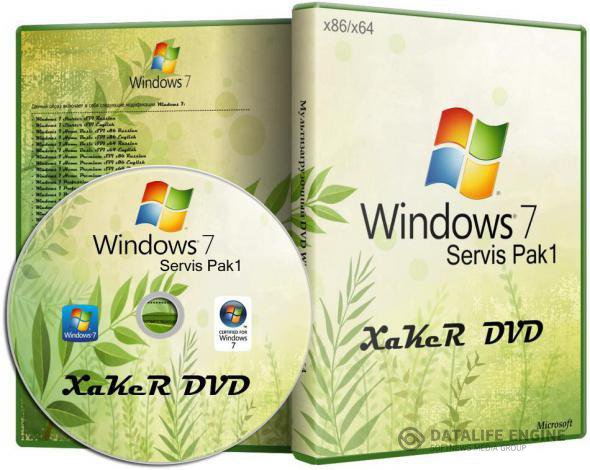 Windows 7 XaKeR DVD (x86/x64/RUS/2012)