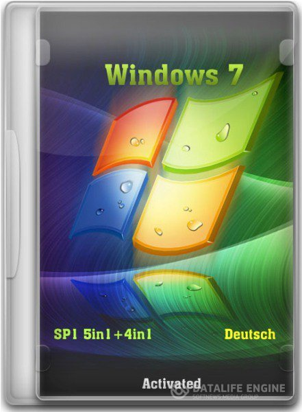 Windows 7 SP1 5in1+4in1 Deutsch (x86/x64) 07.03.2012