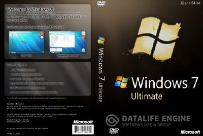 Windows 7 SP1 Ultimate Energy Edition V3 2DVD by CJ HAY [Русский]