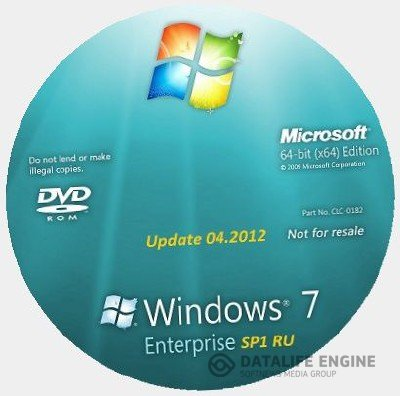 Microsoft Windows 7 Enterprise SP1 RU x64 Lite & Mini (19.04.2012)