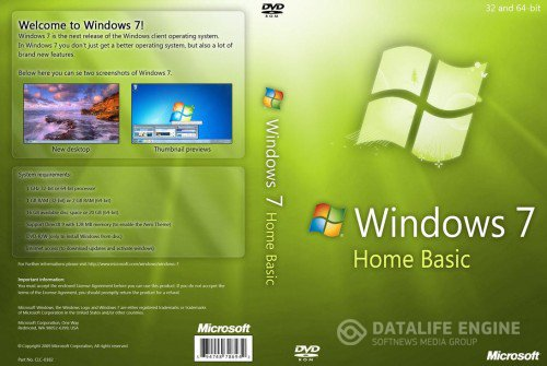 Microsoft Windows 7 Home Basic SP1 x86-x64 RU Lite & Mini 120428