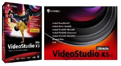 Corel VideoStudio Pro X5 15 + Ultimate Bonus for Corel VideoStudio Pro X5