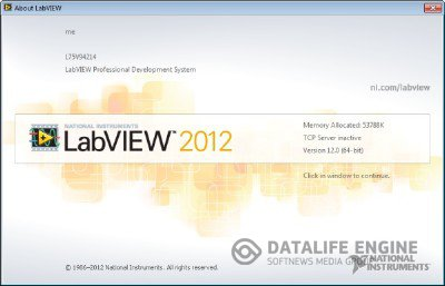 LabView 2012 (Windows 64 bit) 12.0 [English] + KeyGen