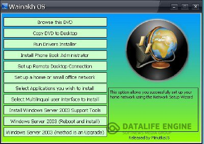 Wainakh OS 2K3 - Windows Server 2003 R2 SP2 x86 Enterprise edition English + 21 MUI PACKS