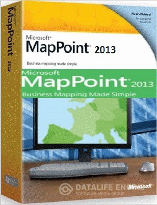 MICROSOFT MAPPOINT 2013 EUROPE v.19.00.21.1000 Retail (2012, Eng)