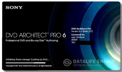 Sony DVD Architect Pro 6.0 build 237 [2012, ML+RUS] + Crack