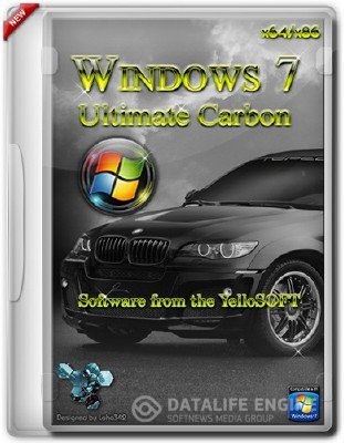 Windows 7 Ultimate x64 SP1 Carbon by YelloSOFT [11.2012, RUS]