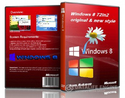 Windows 8 original & new style by Bukmop [Ru] [72 in 2xDVD: x86+x64 ]