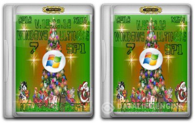 Windows 7 Ultimate SP1 NovogradSoft [v.10.12.12] Новогодняя (2DVD: x86+x64)